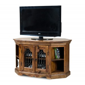 Jali Sheesham Corner TV Unit 1