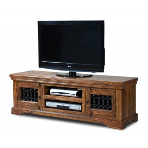 Jali Sheesham Wide TV Unit 1