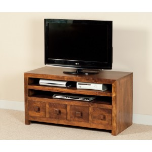 Dakota Mango Large 4 Drawer TV Unit 1