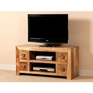 Dakota Light Mango Large TV Unit 1