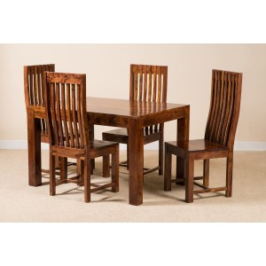 Mandir Sheesham 4-Seater Dining Set 1