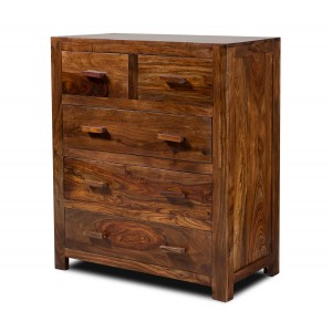 Mandir Sheesham Small Chest Of Drawers 1