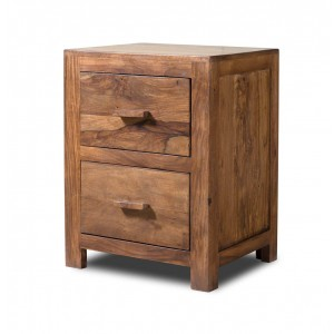 Mandir Stonewashed Sheesham Bedside Table 1