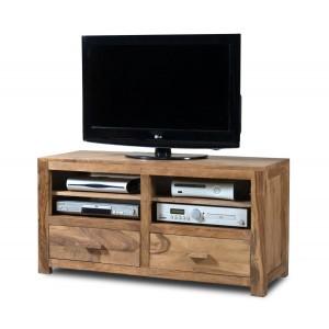 Mandir Stonewashed Sheesham Large TV Unit 1