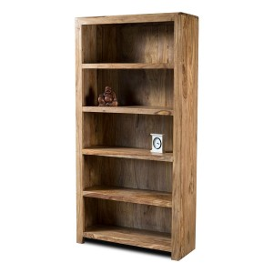 Mandir Stonewashed Sheesham Tall Bookcase 1