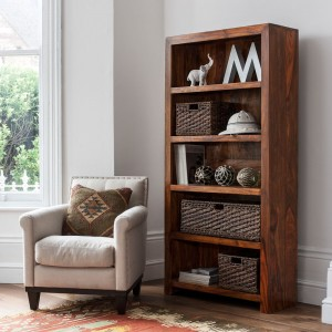 Mandir Sheesham Tall Bookcase 1