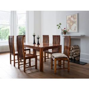 Mandir Sheesham 6 Seater Dining Set 1