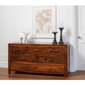 Mandir Sheesham Large Chest Of Drawers 1