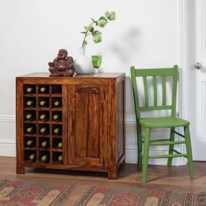 Mandir Sheesham Wine Cabinet 1