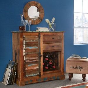 Reclaimed Indian Wine Rack Sideboard 1