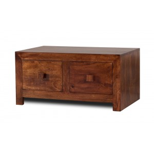Dakota Mango Small 4-Drawer Coffee Table 1