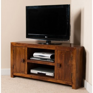 Dakota Mango Large Corner TV Unit 1