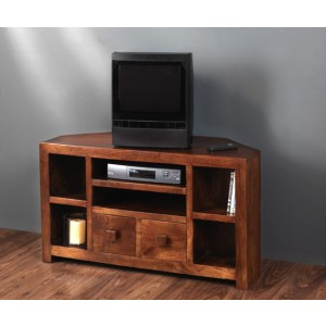 Dakota Mango Corner TV Unit 1