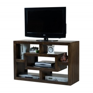Dakota Dark Mango Open TV Shelving Unit 1