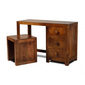 Dakota Mango Dressing Table With Stool 1