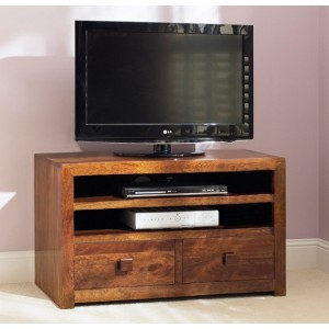 Dakota Mango Large 2 Drawer TV Unit 1