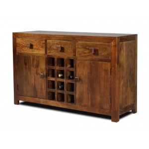 Dakota Mango Large Open Sideboard 1