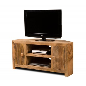 Dakota Light Mango Large Corner TV Unit 1
