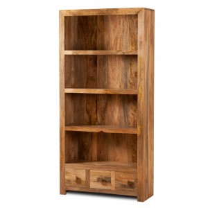 Dakota Light Mango Tall Bookcase 1