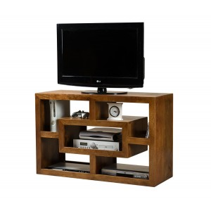 Dakota Mango Open TV Shelving Unit 1