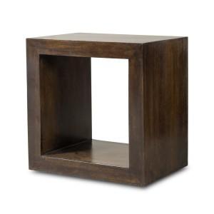 Dakota Dark Mango Cube Side Table 1