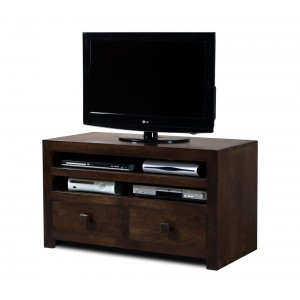 Dakota Dark Mango Large 2-Drawer TV Unit 1