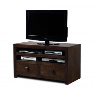 Dakota Dark Mango Large 2-Drawer TV Unit 1