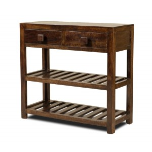 Dakota Dark Mango Small Console Table 1