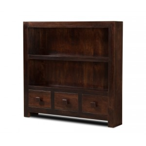 Dakota Dark Mango Thin Bookcase 1