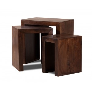 Dakota Dark Mango Trio Table Nest 1