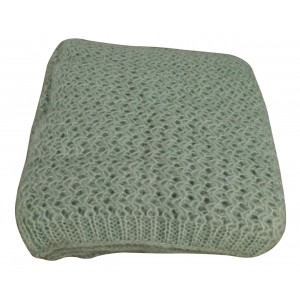 Duck Egg Ribbed Throw 1
