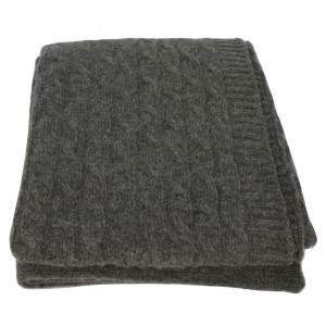 Slate Wool Twist Throw 1