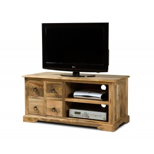 Tenali Light Mango Large 4 Drawer TV Cabinet 1