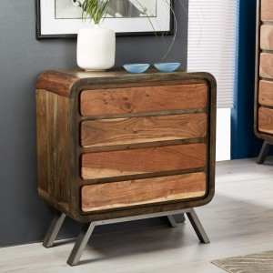 Arizona Acacia 4 Drawer Chest