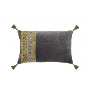 Marrakesh rectangular cushion charcoal