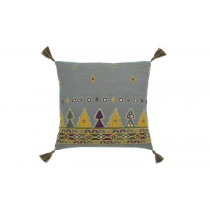 Marrakesh square cushion charcoal