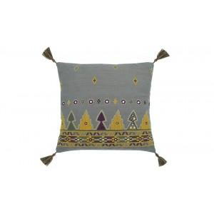 Marrakesh square cushion charcoal
