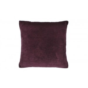 Velvet large cushion Aubergine