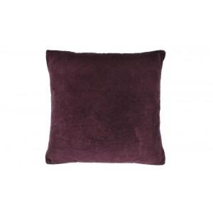 Velvet large cushion Aubergine