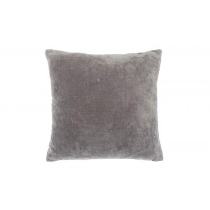 Velvet large cushion Charcoal