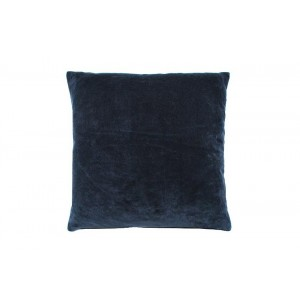 Velvet large cushion Indigo
