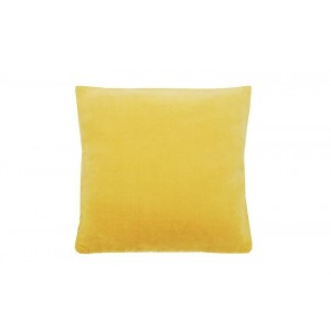 Velvet large cushion Ochre