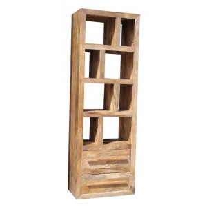 Mango Natural Tall Open Bookcase-Shelving Unit 1