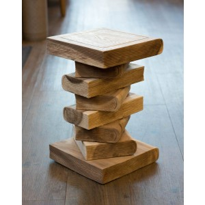 Solid Wood Book Stack - Light