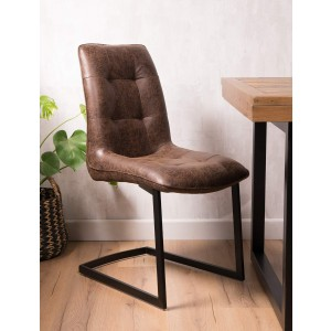 Brooklyn Cantilever Leather Dining Chair