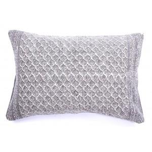 Grey Swirls Cotton Cushion 70x50cm