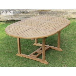 Devon Teak 1.2-1.7m Extending Table 1
