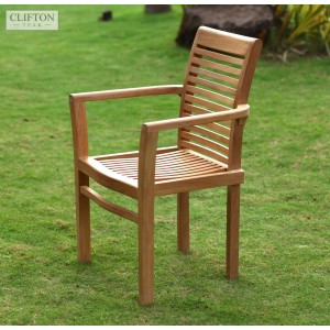 Sherborne Stacking Teak Armchair 1