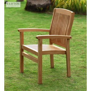 Sussex Teak Stacking Armchair 1