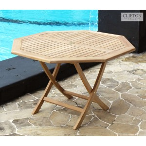 Wiltshire 1.2m Octagonal Teak Table 1
